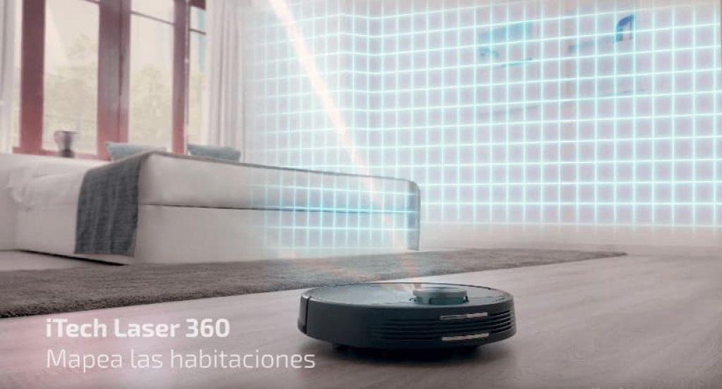 Conga 3490 Elite, iTech laser mapea las habitaciones